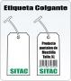 Etiqueta En Cartulina (Cartoncillo) De 37 X 64 Mm