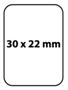 Etiqueta 30 X 22 Material T.T.