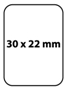 Etiqueta 30 X 22 Material T.D.