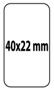 Etiqueta 40 X 22 Material T.D.